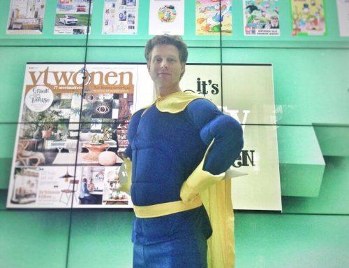 De SuperHero acteur geleverd door Huureenacteur.